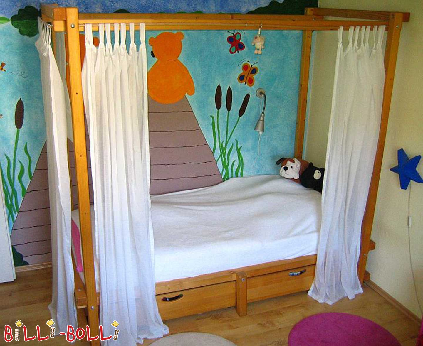 Billi-Bolli Four-poster bed (second hand kids' bed)
