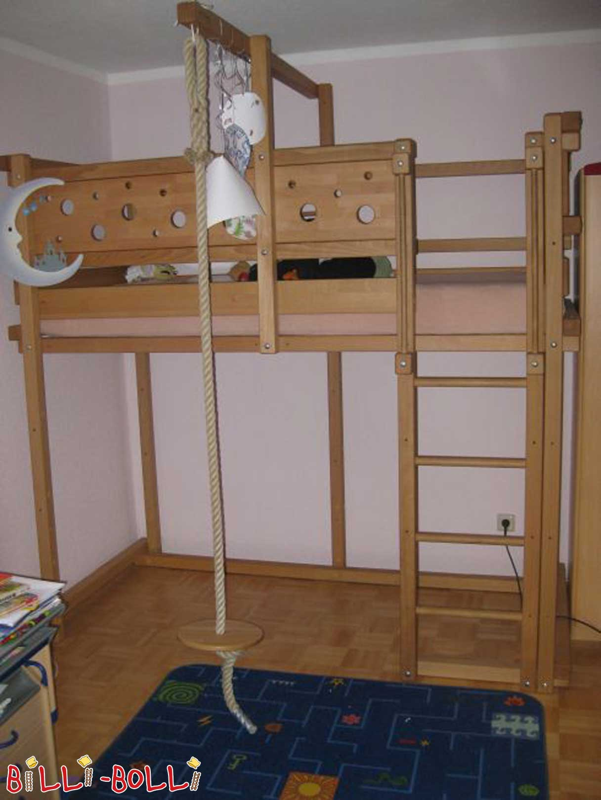 Growing bunk bed, beech (second hand loft bed)