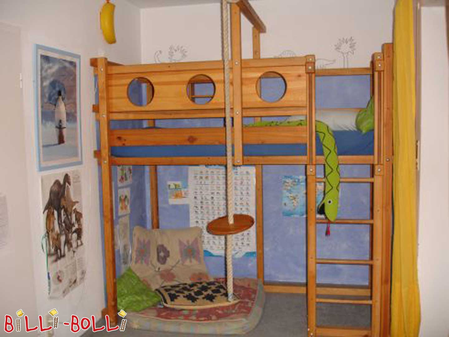 Pirate bed 90/200 Pine (second hand loft bed)