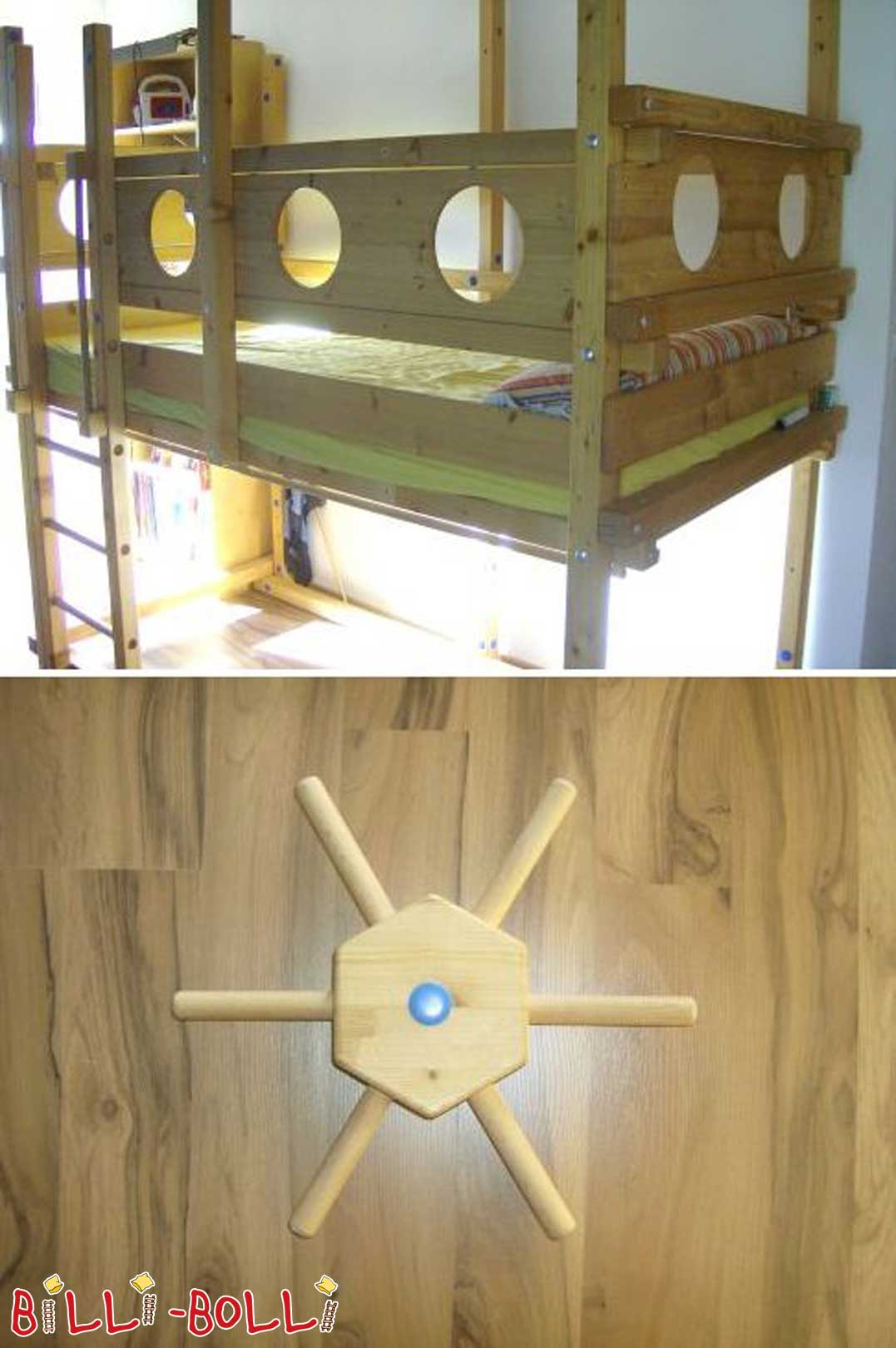 Growing bunk bed for sale (second hand loft bed)