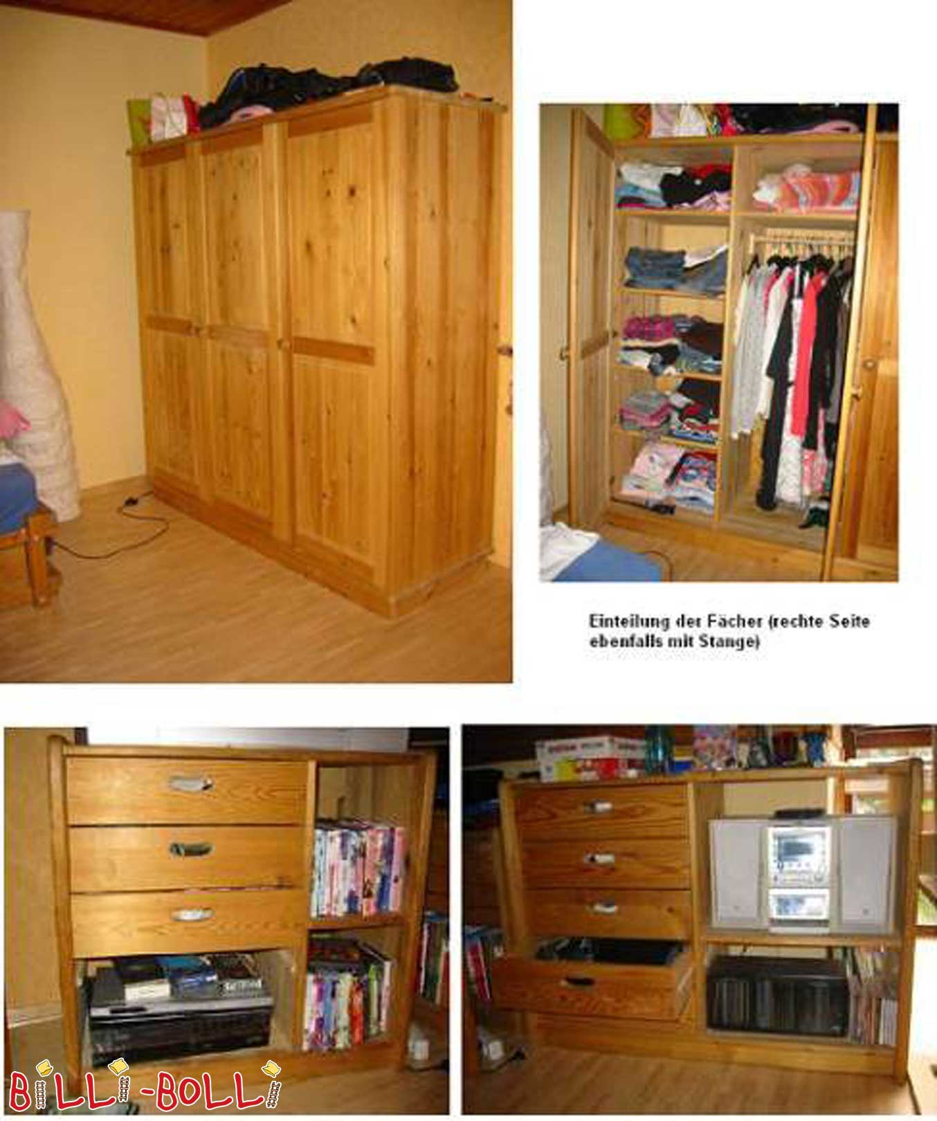 Gullibo cabinets and shelves (second hand kids' furniture)