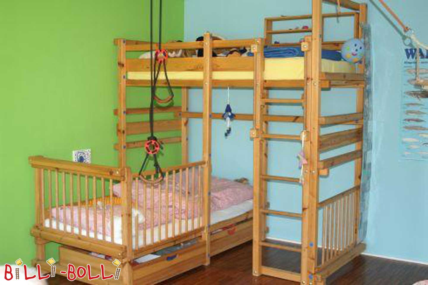 Billi-Bolli bed over corner (second hand baby crib)