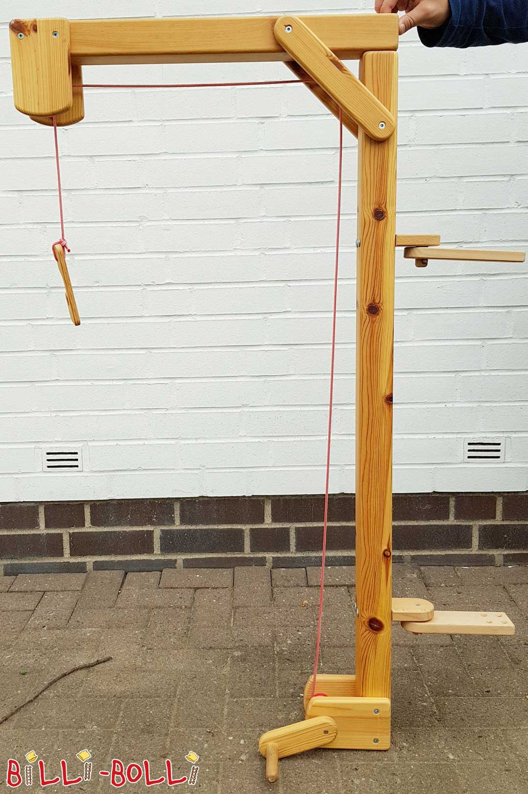 Untreated game crane, pine (second hand kids' furniture)