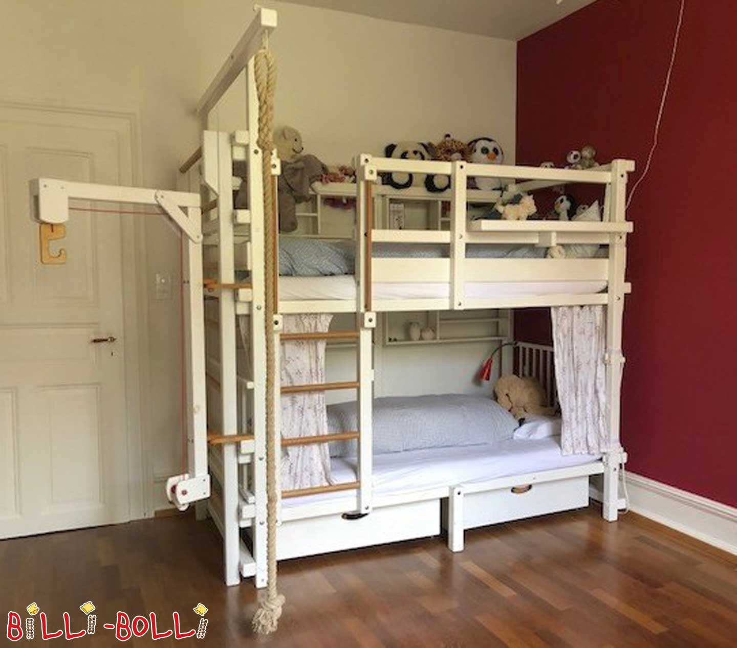 Bunk bed, white glazed (second hand bunk bed)