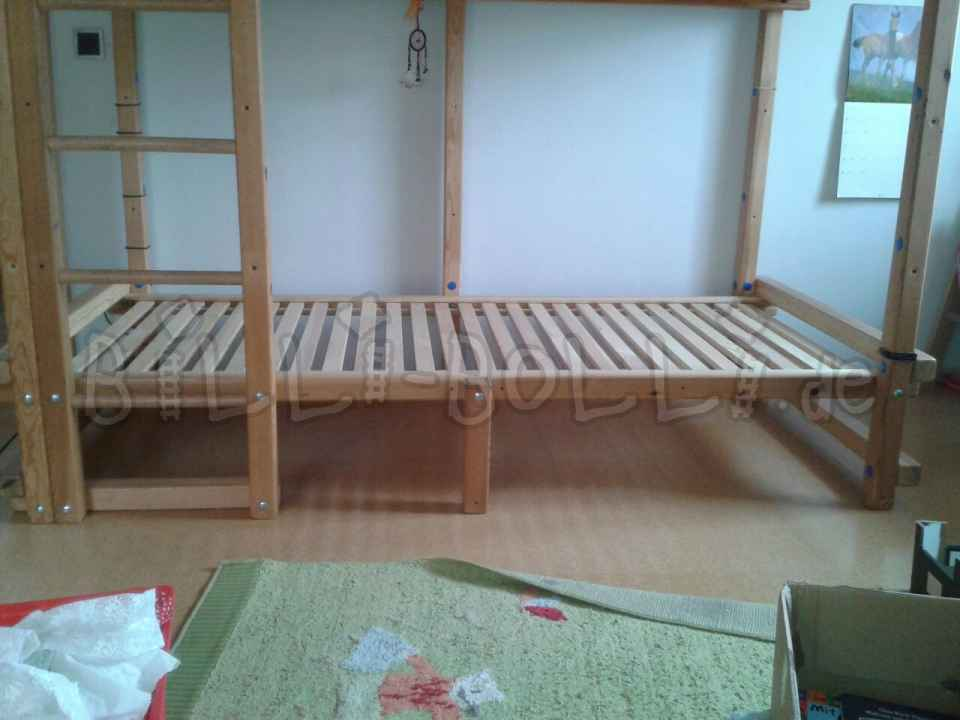 Conversion kit from high to bunk bed (second hand bunk bed)