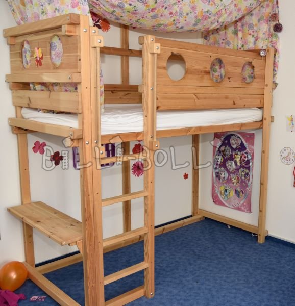 Two growing high beds (90/200) for sale (second hand loft bed)