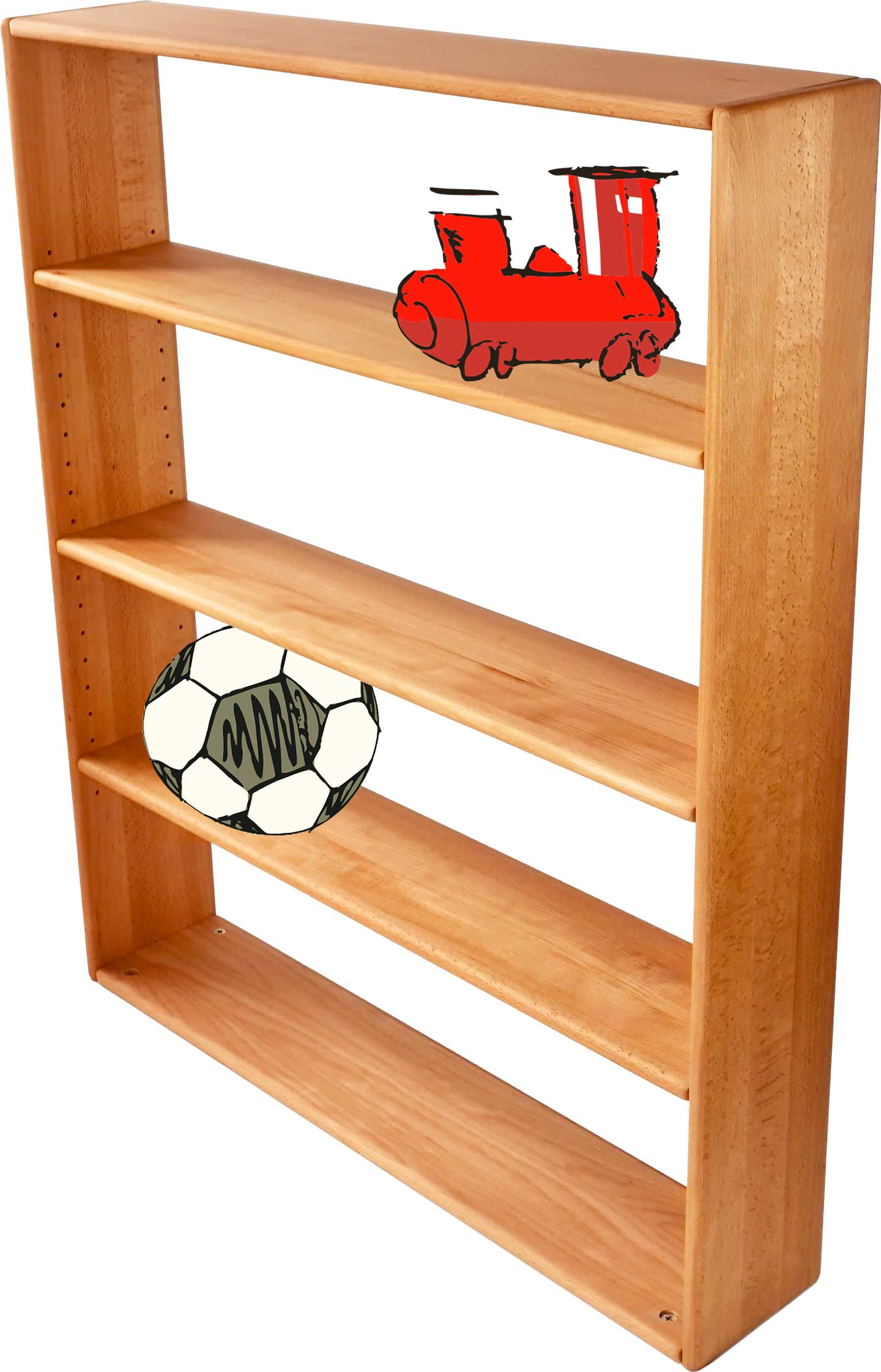 Shelves and racks for the loft bed or bunk bed